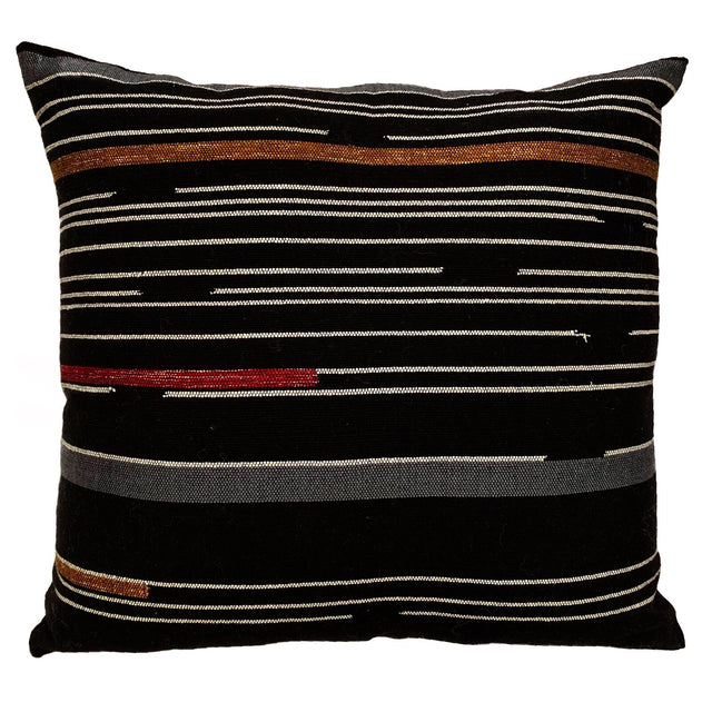 BLACK GRAPHIC DELUX PILLOW FROM GUATEMALA