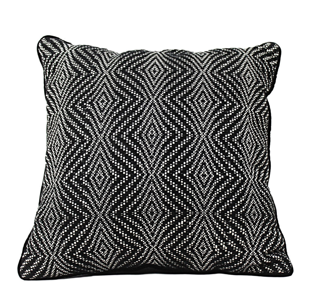 BLACK VIBRATION COTTON PILLOWS <br>(FROM GUATEMALA)