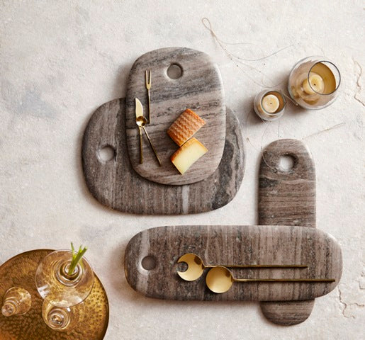 CURVE MARBLE SERVING BOARDS | DINING & ENTERTAINING