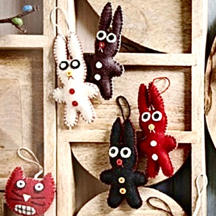 ZOMBIE RABBIT ORNAMENTS