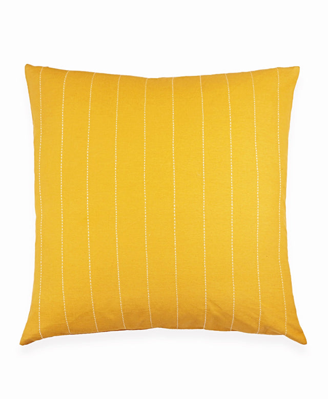 GOLD PINSTRIPE THROW PILLOW
