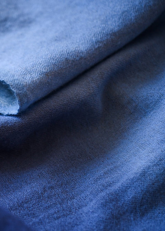 EWA WOOL BLUE THROW (INDIA)