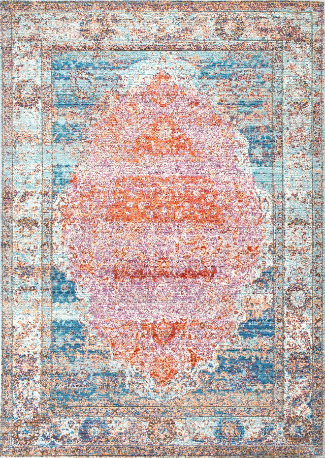 ELLE VINTAGE MEDALLION BLUE ( 4 ) | RUGS