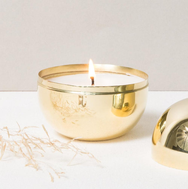 BRASS SPHERE CANDLE