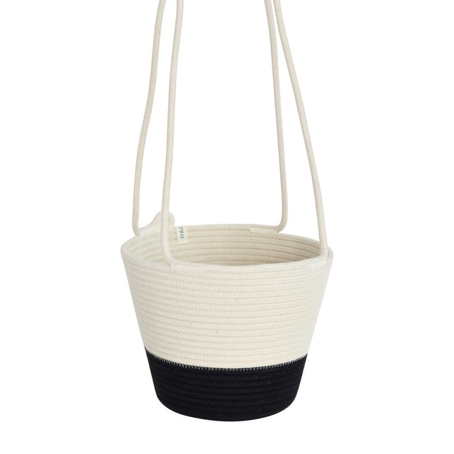 BLACK BLOCK COTTON HANGING PLANTER (SOUTH AFRICA)