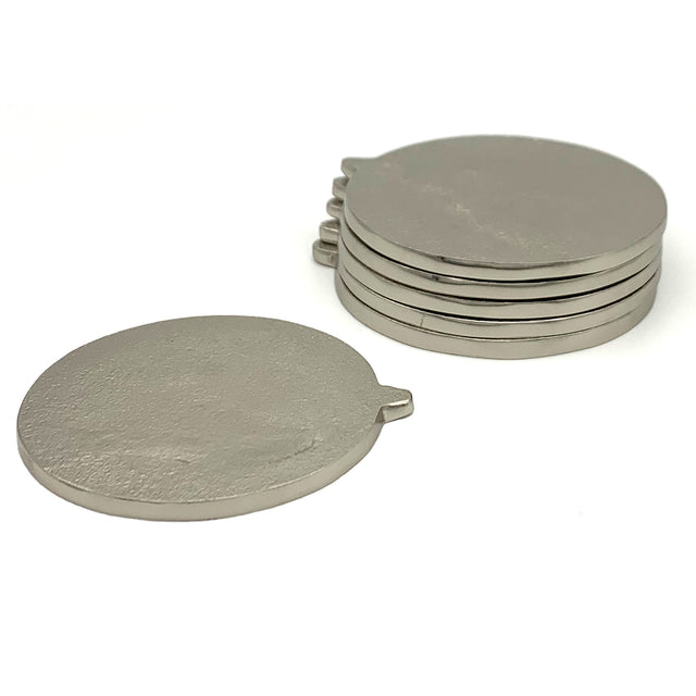 NICKEL COASTERS (set of 2) | COASTER | STAG & MANOR