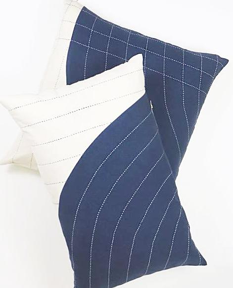 COBALT CURVE THROW PILLOW
