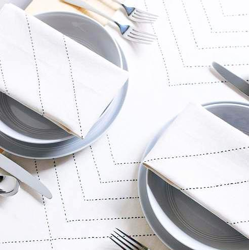 BONE WHITE NAPKINS & PLACEMATS