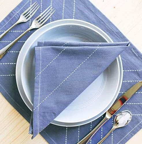 GREY SLATE NAPKINS & PLACEMATS