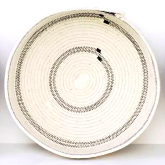 IVORY COTTON TABLE BASKETS<br>(FROM SOUTH AFRICA)