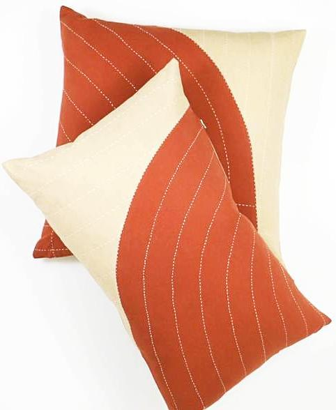 COPPER CURVE THROW PILLOW