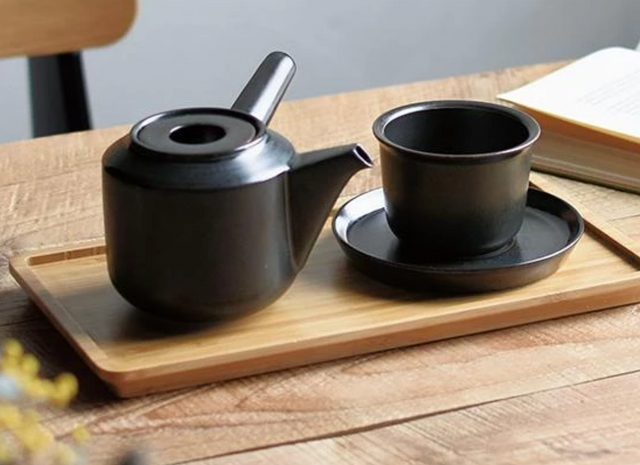 CERAMIC TEAPOT - KYUSU (JAPAN)