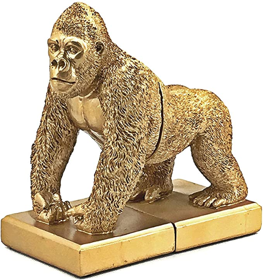 GOLD GORILLA BOOKENDS