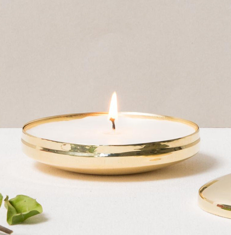 BRASS PILLBOX CANDLE