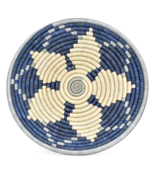 "BLUE MORNING STAR 12"" BASKET (RWANDA)"