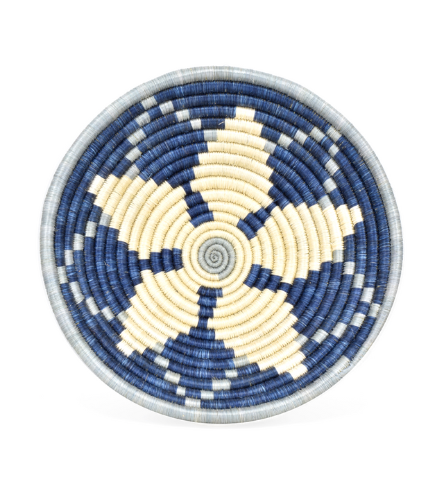 "BLUE MORNING STAR 10"" BASKET (RWANDA)"