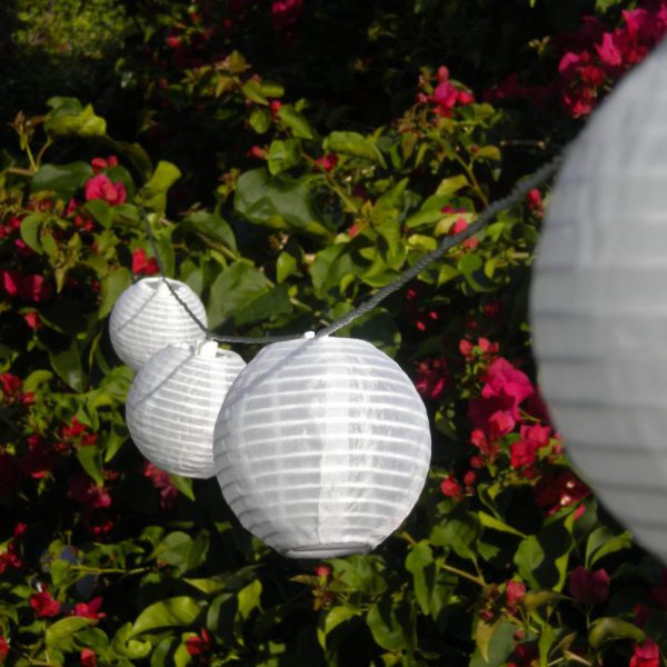 SOLAR PAPER LANTERN STRING LIGHTS
