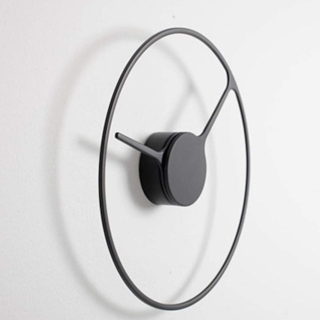 BLACK DANISH WALL CLOCK