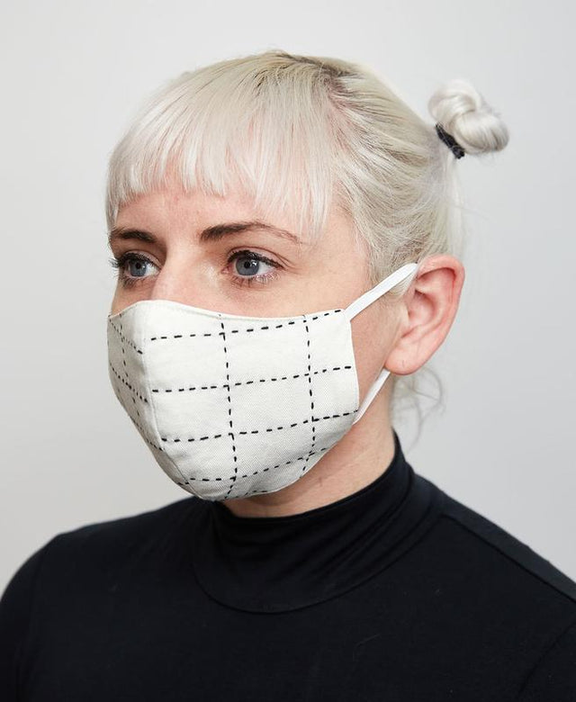 IVORY STITCHED FACE MASK