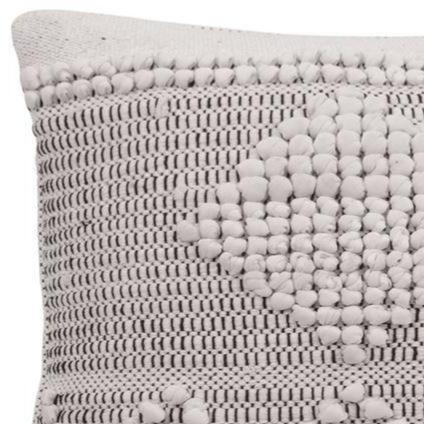 WOVEN TEXTURED THROW PILLOW