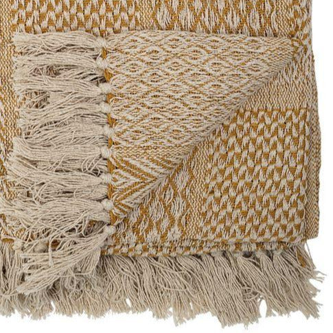 GOLD FRINGE THROW