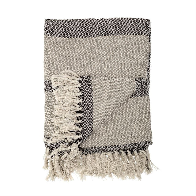GREY & TAUPE THROW