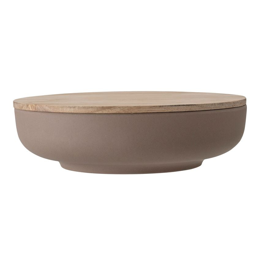 BAMBOO BOWL WITH WOOD LID