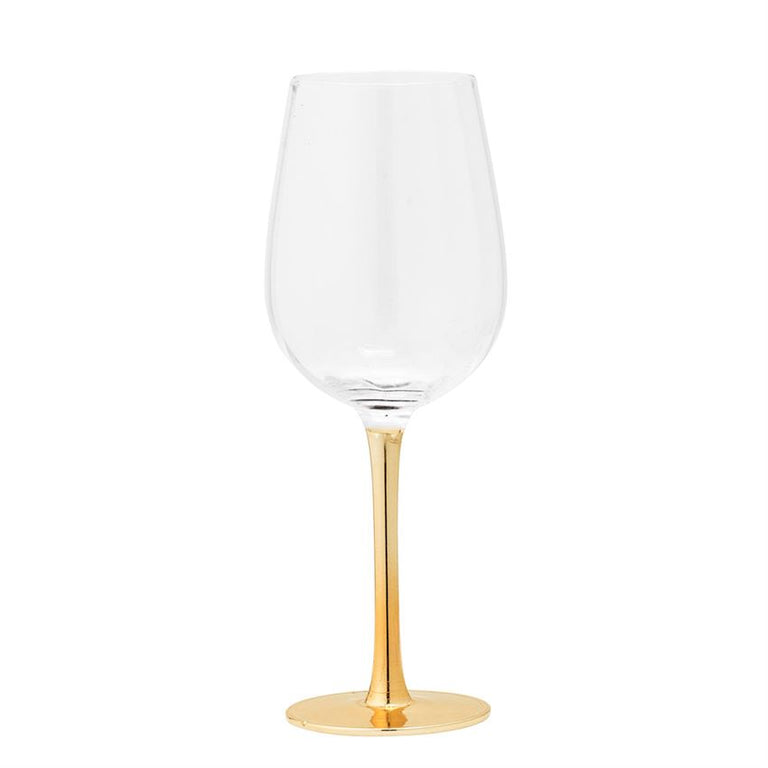 GOLD STEM WINE GLASSES