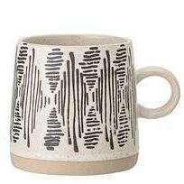 EMBOSSED STONEWARE EARTH MUGS