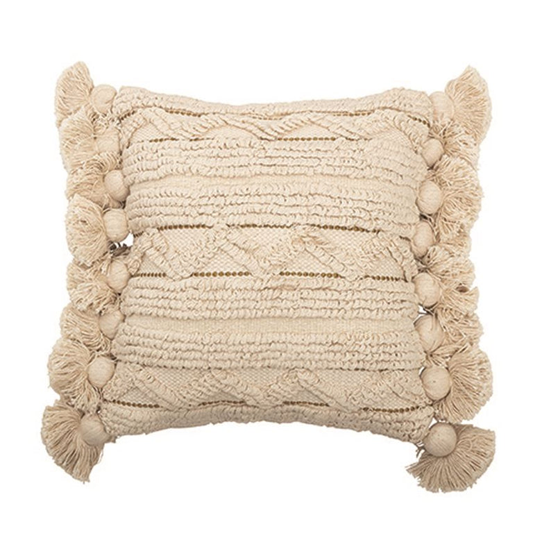 IVORY LOOP STRIPE PILLOW | PILLOWS