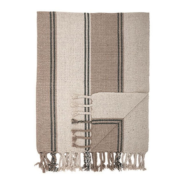 RECYCLED-COTTON TEXTURED THROW BLANKET