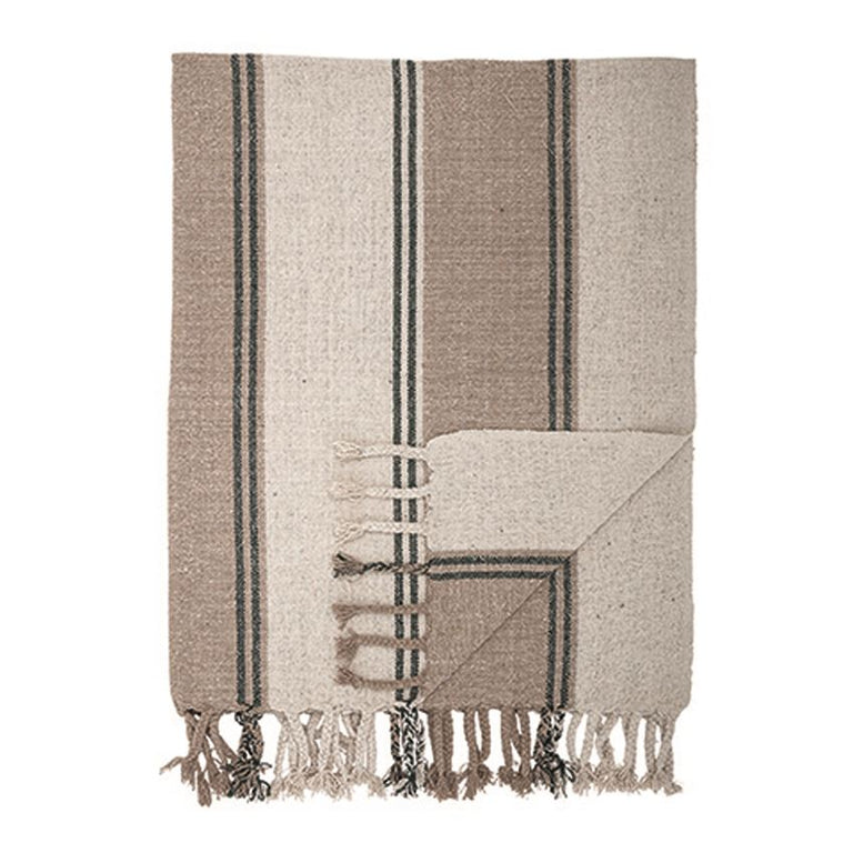 RECYCLED-COTTON TEXTURED THROW BLANKET | THROWS