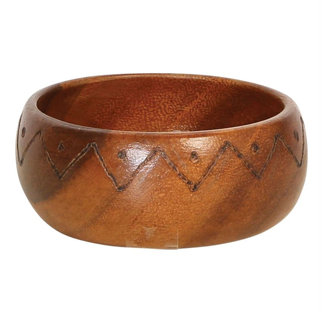 ACACIA ETCHED WOOD BOWL | DINING & ENTERTAINING