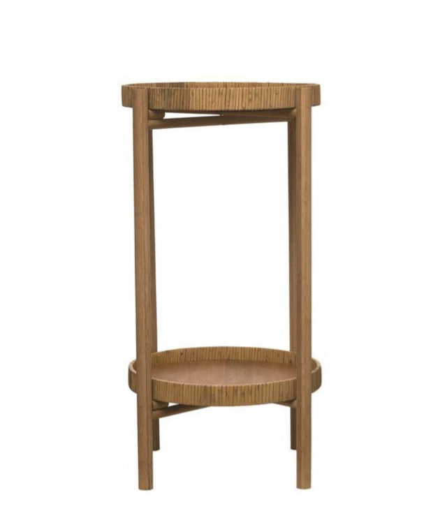 BAMBOO & RATTAN PLANT STAND