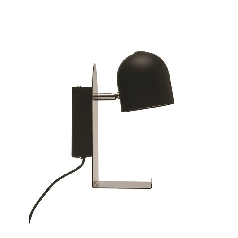 BLACK SHELF METAL SCONCE