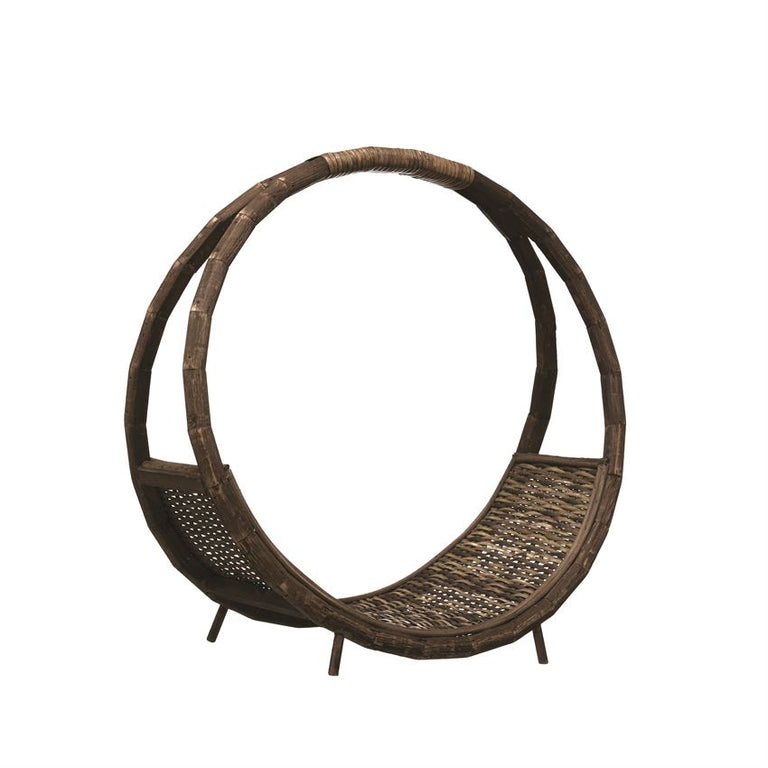 RATTAN LOG HOLDER | STORAGE