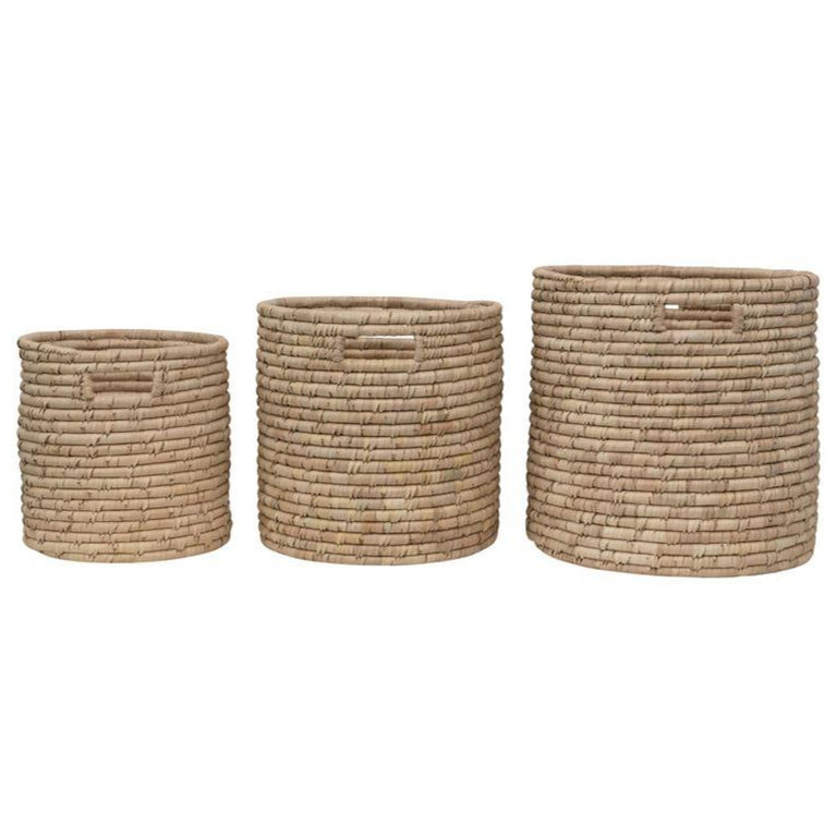 GRASS HANDLE BASKET SET