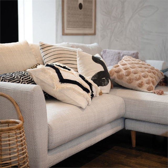 BLACK & IVORY NARROW STRIPE PILLOW | PILLOWS | STAG & MANOR