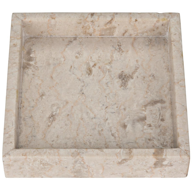 WHITE MARBLE SQUARE TRAY
