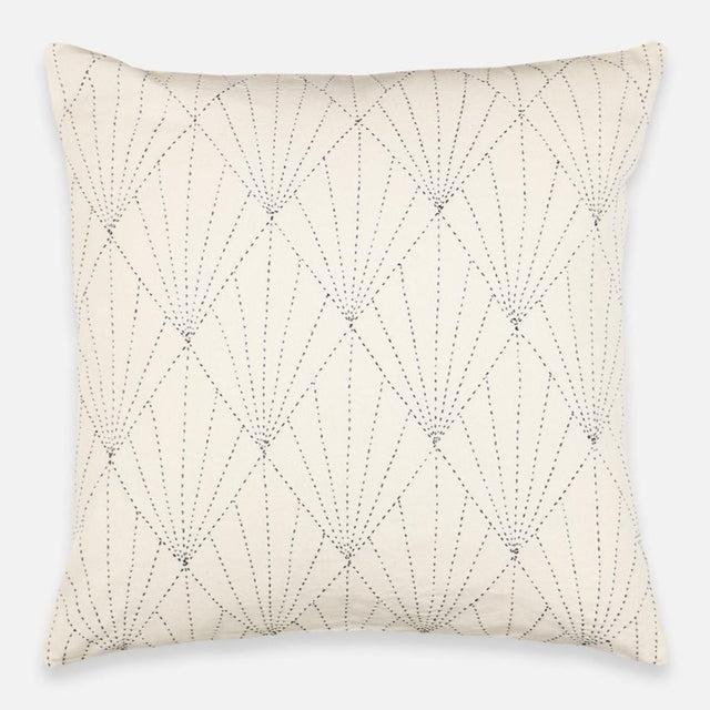 WHITE ARRAY STITCH THROW PILLOW