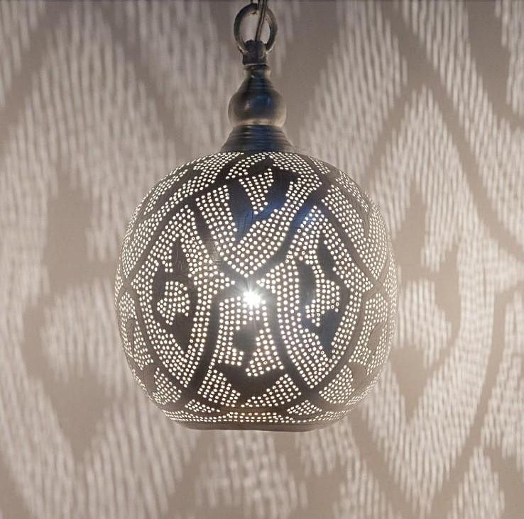 "SILVER FILIGRAIN BALL PENDANT - 12"" (EGYPT) 