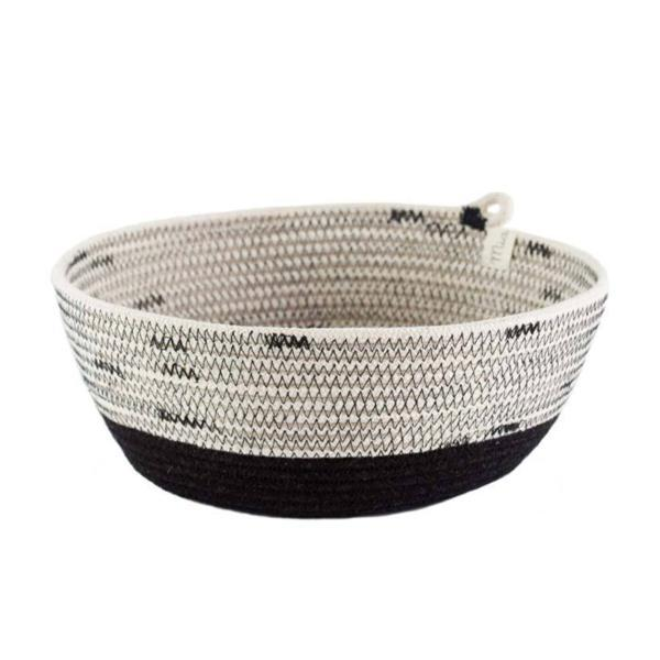 IVORY & BLACK COTTON BOWLS FROM SOUTH AFRICA