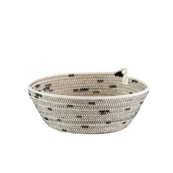 IVORY COTTON DOT STITCH BOWLS (SOUTH AFRICA)