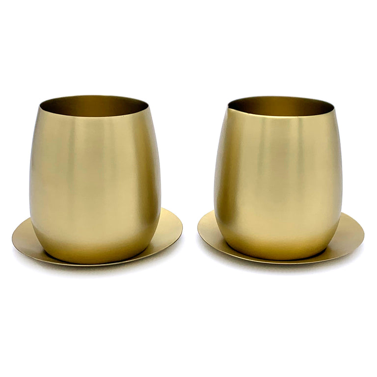 BRASS SUGAR+CREAM 4-PIECE SET