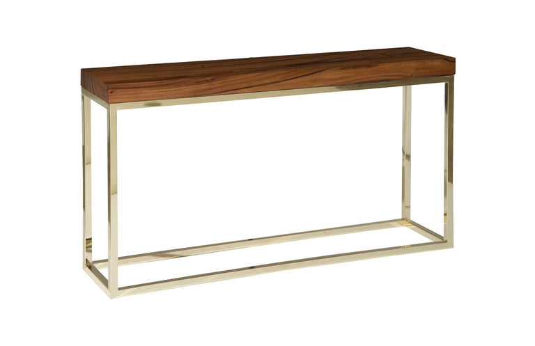 CHAMCHA WOOD BLOCK CONSOLE TABLE