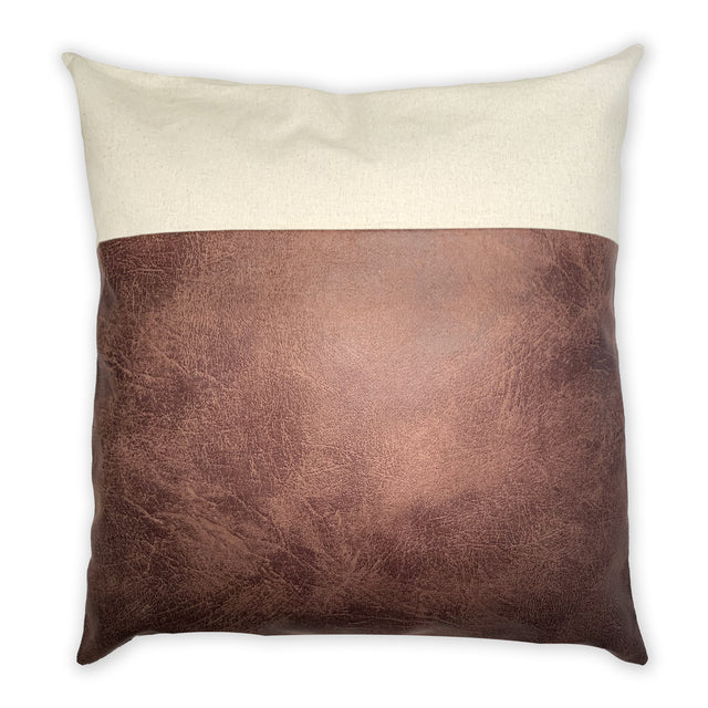 CHOCOLATE & LINEN PILLOW 24""