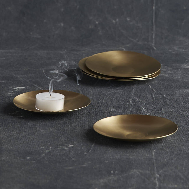 BRASS SMALL SERVING PLATES