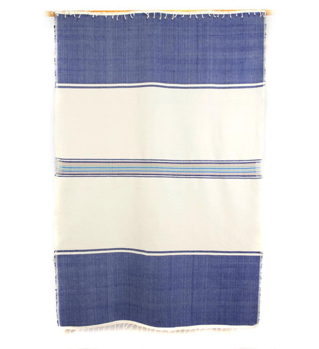 BLUE QUEEN OF SHEBA TABLECLOTH THROW (ETHIOPIA)