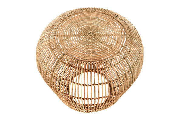 RATTAN DRUM SIDETABLE