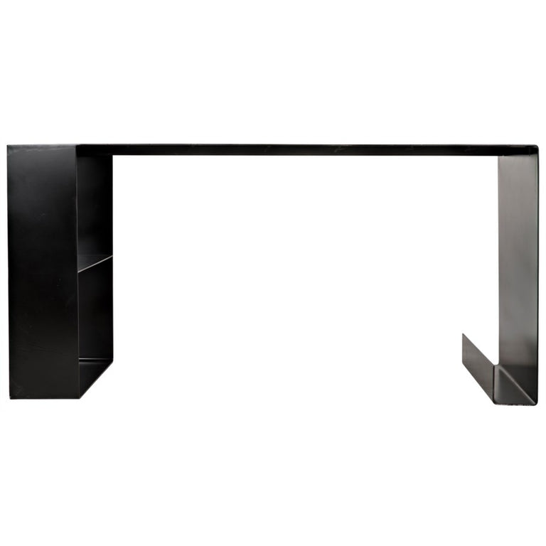BLACK METAL DESK TABLE